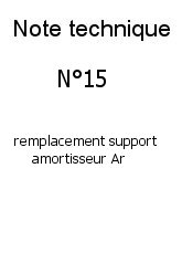 remplacement support arriere